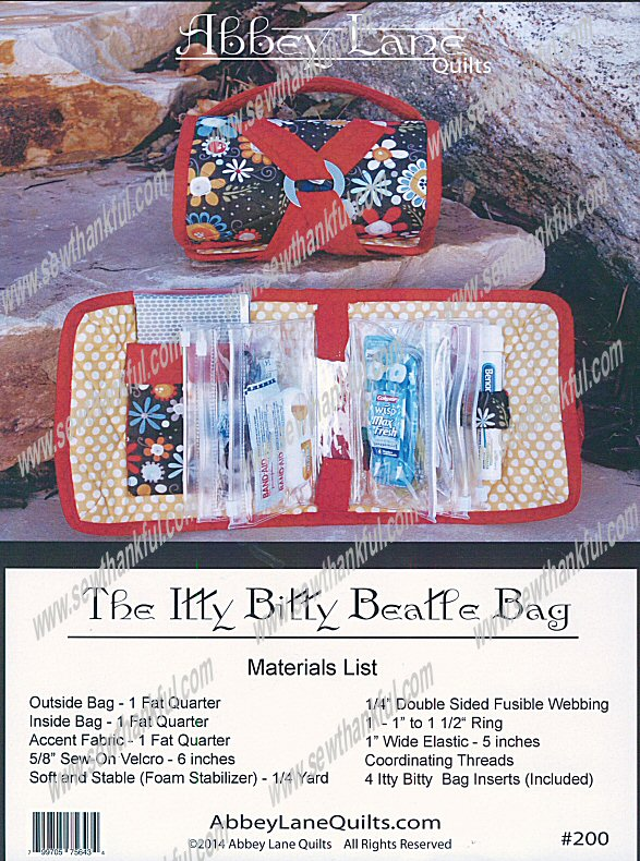 Itty Bitty Beatle Bag 200 Sewing Pattern From Abbey Lane