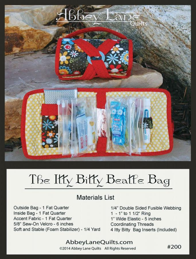 Itty Bitty Beatle Bag sewing pattern from Abbey Lane Quilts
