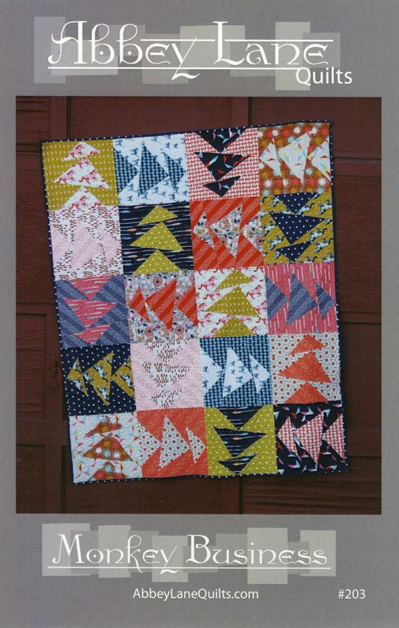 Monkey Business quilt sewing pattern from Abbey Lane Quilts