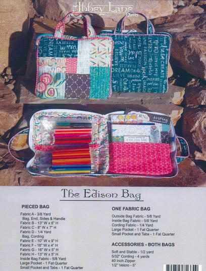 The Edison Bag sewing pattern from Abbey Lane Quilts