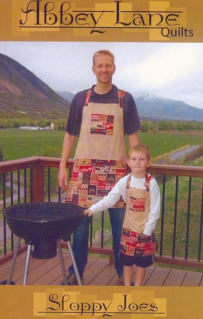 Sloppy Joes apron sewing pattern from Abbey Lane Quilts