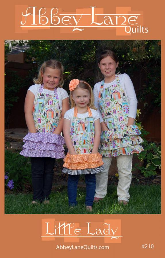 Little Lady apron sewing pattern from Abbey Lane Quilts