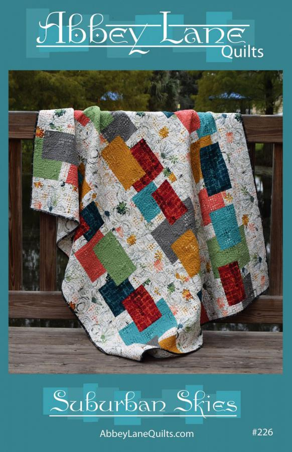 Suburban Skies quilt sewing pattern from Abbey Lane Quilts