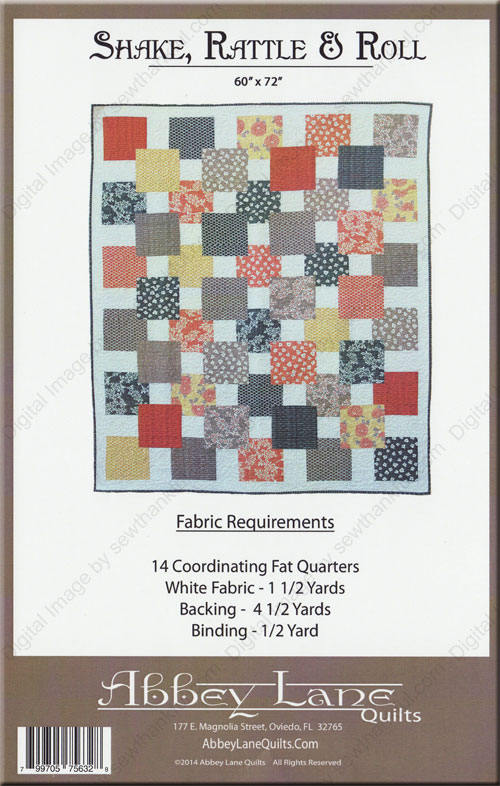Shake Rattle Amp Roll Quilt Sewing Pattern From Abbey Lane