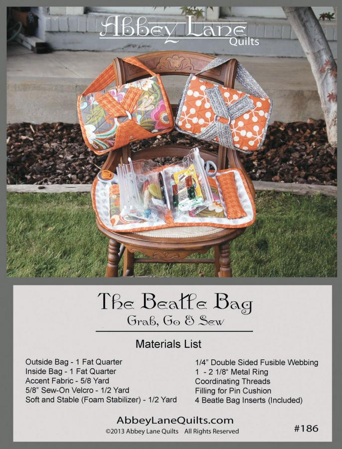 Beatle Bag sewing pattern from Abbey Lane Quilts