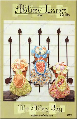 The Abbey Bag pincushion and scrap/thread catcher sewing pattern from Abbey Lane Quilts