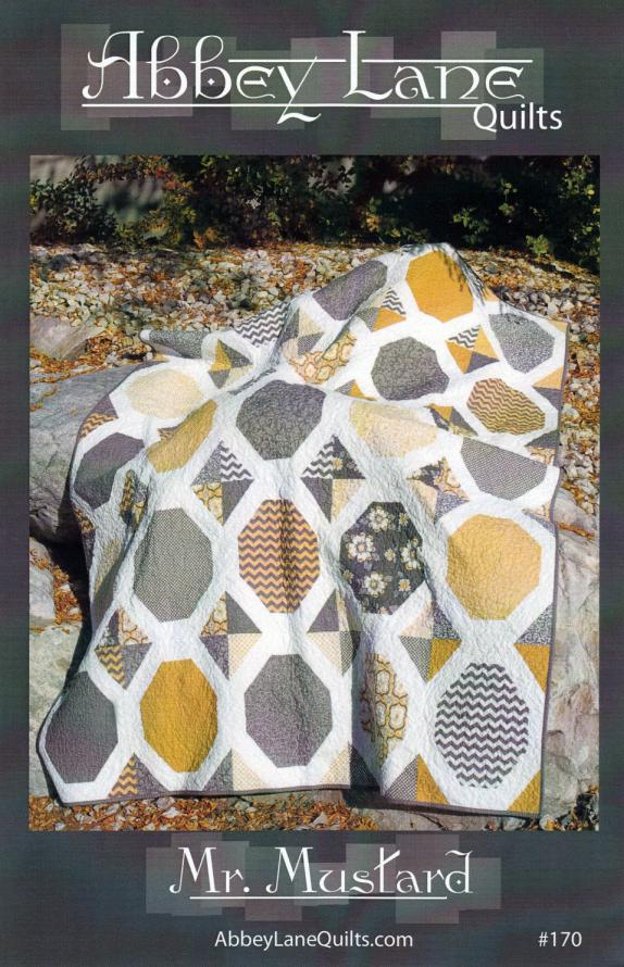 Mr. Mustard quilt sewing pattern from Abbey Lane Quilts