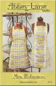 Mrs. Robinson apron sewing pattern from Abbey Lane Quilts