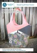 Stand Up and Tote Notice sewing pattern from Andrie Designs