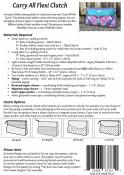 Carry All Flexi Clutch sewing pattern from Andrie Designs 1