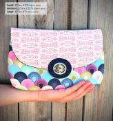 The Statement Clutch sewing pattern from Andrie Designs 2