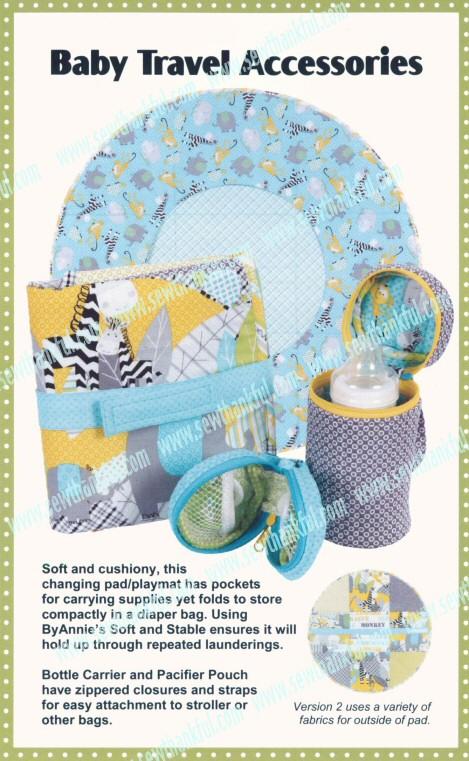 Baby Travel Accessories Sewing Pattern By Annie Unrein