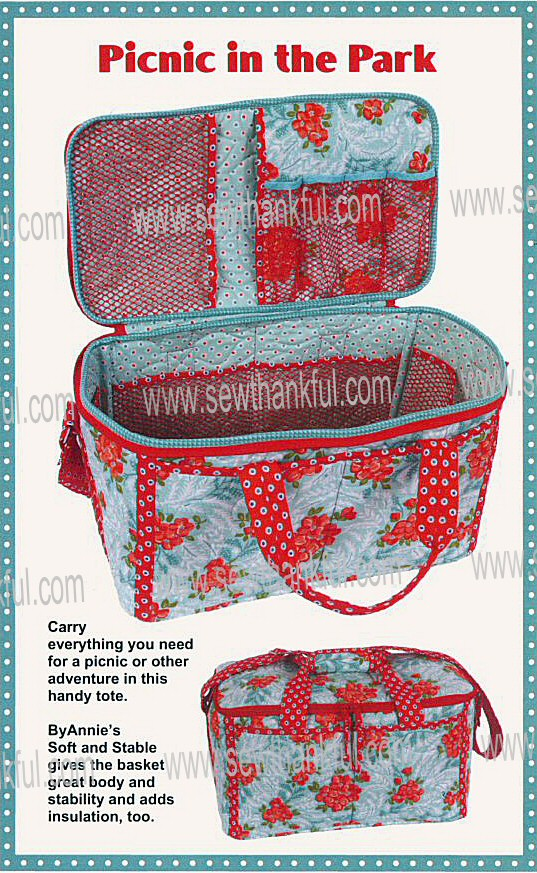 Picnic in the Park fabric picnic basket pattern by Annie Unrein