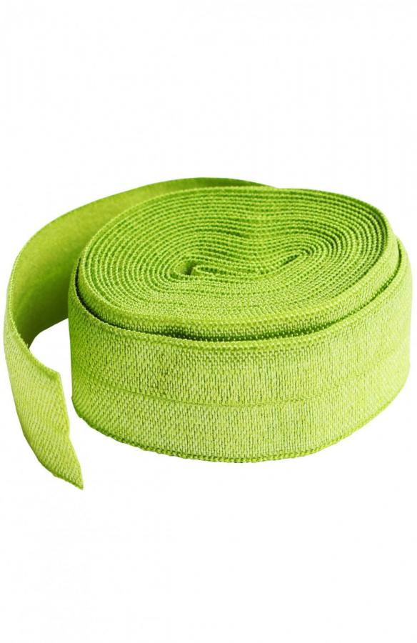 Fold Over Elastic by Annie Unrein - Apple Green