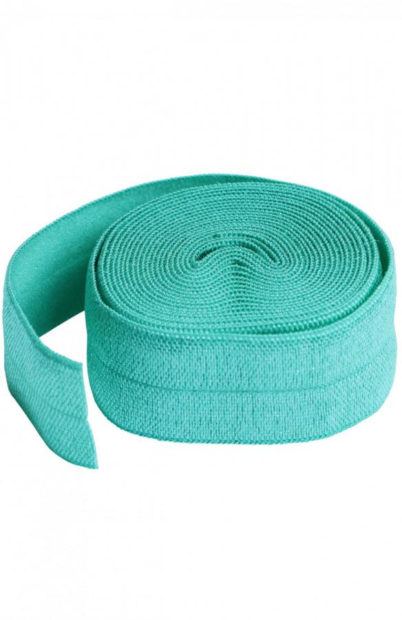 Fold Over Elastic by Annie Unrein - Turquoise