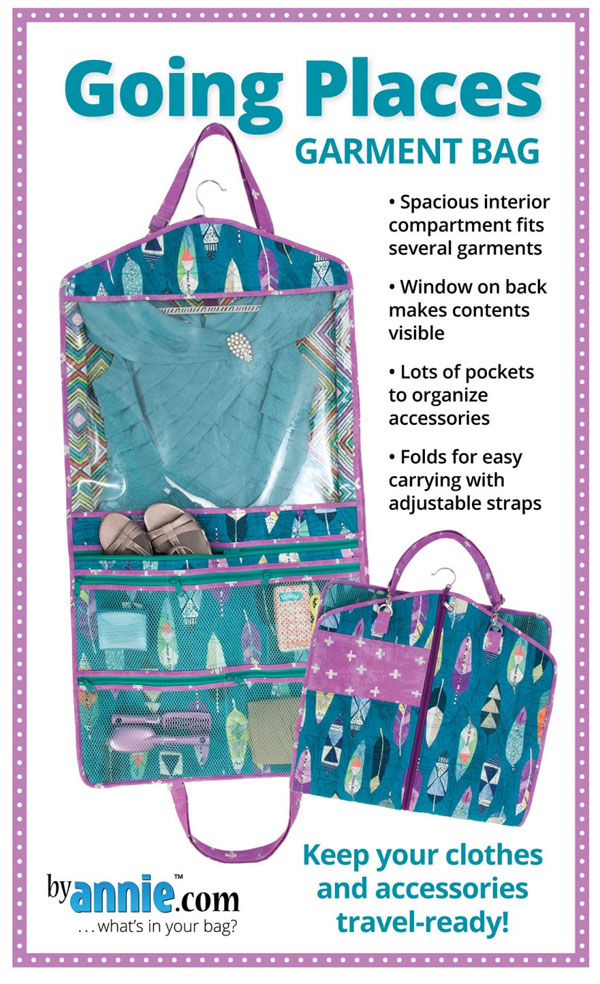 Going Places Garment Bag sewing pattern by Annie Unrein