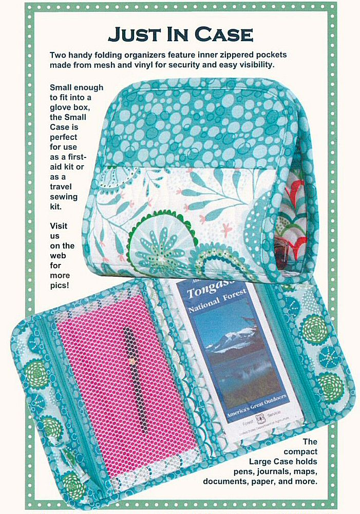 Just In Case Folding Organizers In 2 Sizes Sewing Pattern