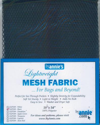 Polyester Mesh Fabric by Annie Unrein - Black