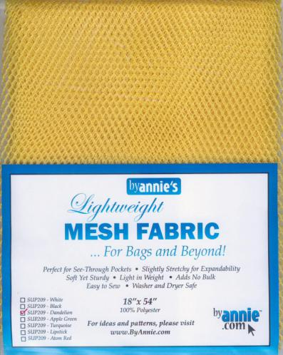 Polyester Mesh Fabric by Annie Unrein - Dandelion