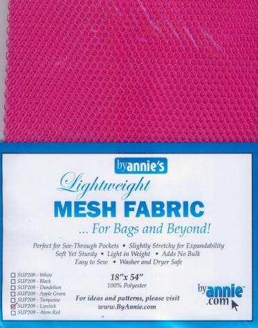 Polyester Mesh Fabric by Annie Unrein - Lipstick
