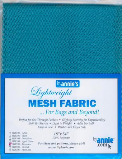 Polyester Mesh Fabric by Annie Unrein - Turquoise