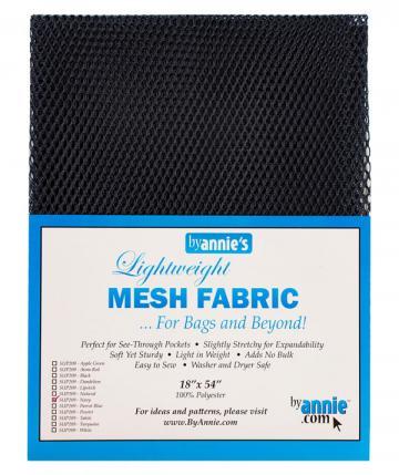 Polyester Mesh Fabric by Annie Unrein - Navy