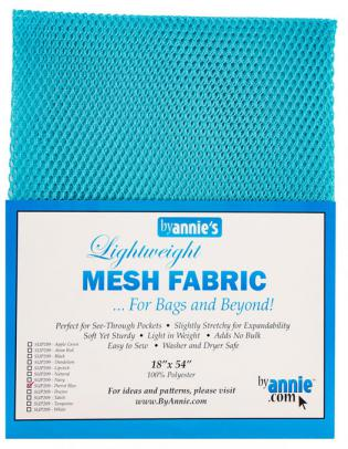 Polyester Mesh Fabric by Annie Unrein - Parrot Blue