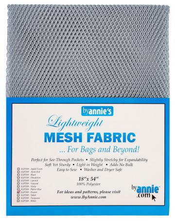 Polyester Mesh Fabric by Annie Unrein - Pewter