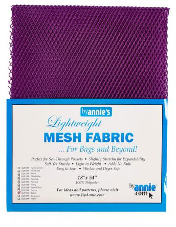Polyester Mesh Fabric by Annie Unrein - Tahiti