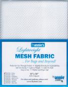Polyester Mesh Fabric by Annie Unrein - White