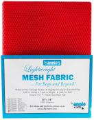 Polyester Mesh Fabric by Annie Unrein - Atom Red