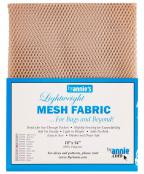 Polyester Mesh Fabric by Annie Unrein - Natural