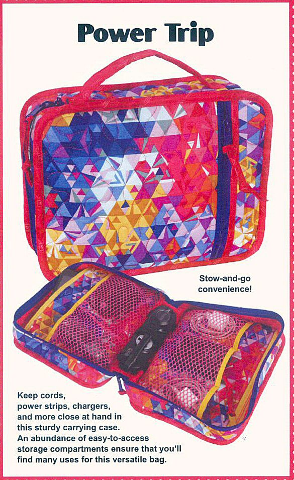 Power Trip Cord Amp Charger Organizer Case Sewing Pattern By