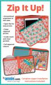 Zip It Up streamlined organizers in 2 sizes sewing pattern by Annie Unrein
