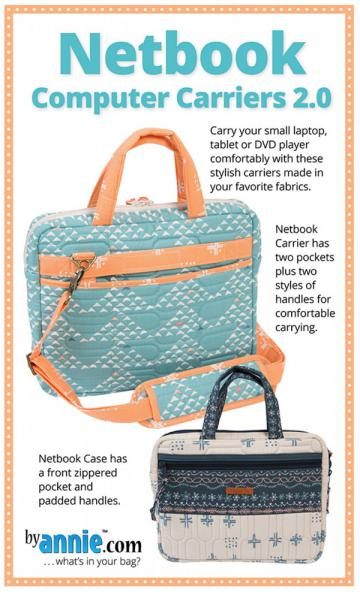 Netbook Computer Carriers 2.0 sewing pattern by Annie Unrein