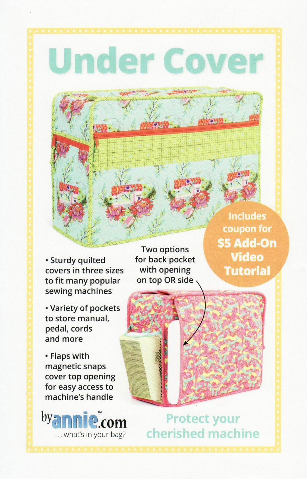 Under Cover sewing machine cover sewing pattern by Annie Unrein