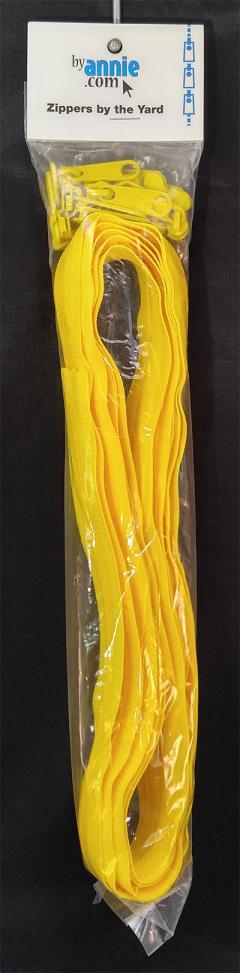 Zipper Tape ByAnnie - 4yds 16mm with 16 Pulls Set - Dandelion