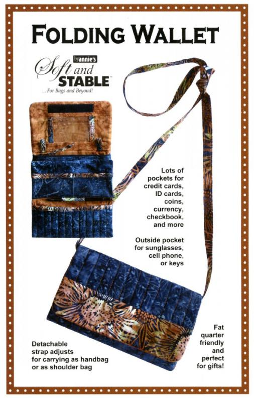 INVENTORY REDUCTION...Folding Wallet sewing pattern by Annie Unrein