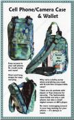 Cell Phone, Camera Case & Wallet sewing pattern by Annie Unrein