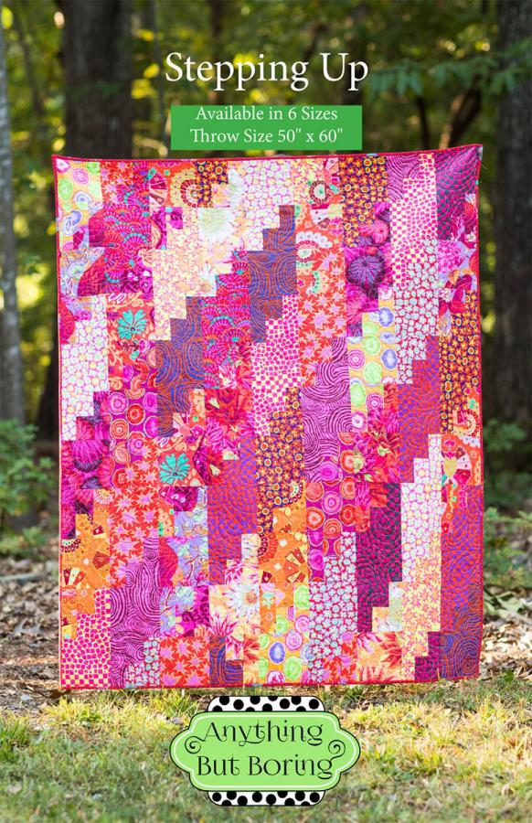 Stepping Up quilt sewing pattern from Anything But Boring