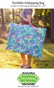 Portfolio Schlepping Bag sewing pattern from Anything But Boring