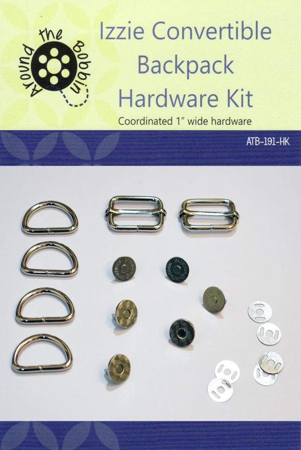 Izzie Convertible Backpack Hardware Kit from Around the Bobbin