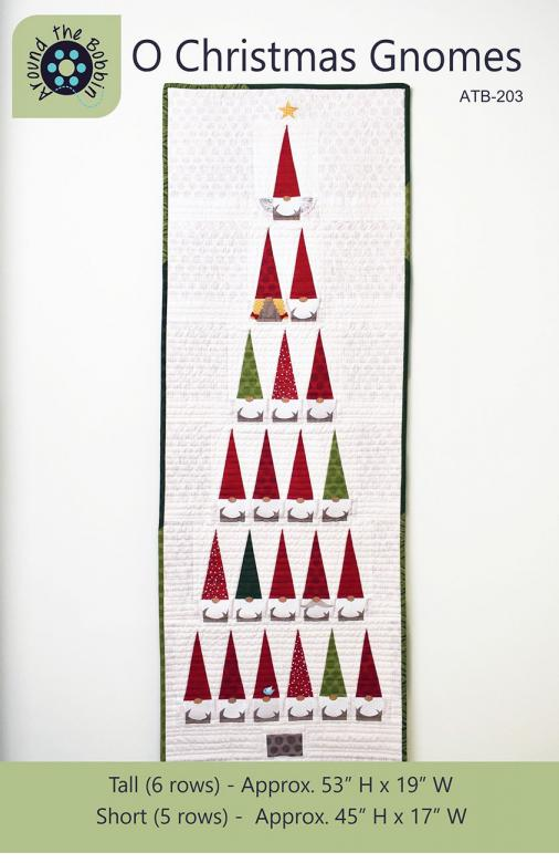 INVENTORY REDUCTION...O Christmas Gnomes sewing pattern from Around The Bobbin
