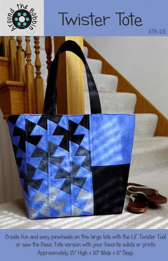 Twister Tote sewing pattern from Around the Bobbin