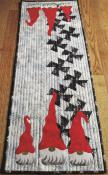 INVENTORY REDUCTION...Twister Gnomes table runner sewing pattern from Around The Bobbin 2