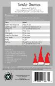 INVENTORY REDUCTION...Twister Gnomes table runner sewing pattern from Around The Bobbin 1