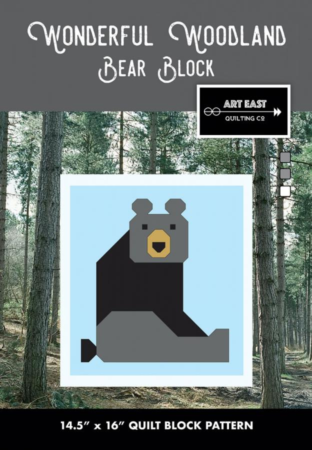 Bear Block - Wonderful Woodland Quilt sewing pattern from Art East Quilting Co.