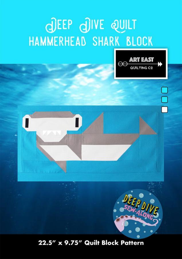 Hammerhead Shark Block - Deep Dive quilt sewing pattern from Art East Quilting Co.