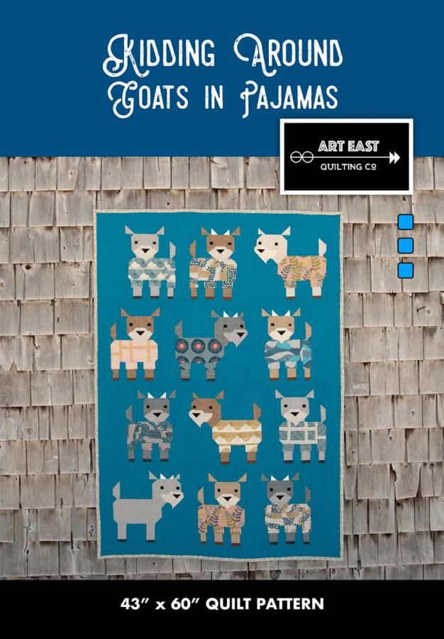 Kidding Around Goats in Pajamas quilt sewing pattern from Art East Quilting Co.