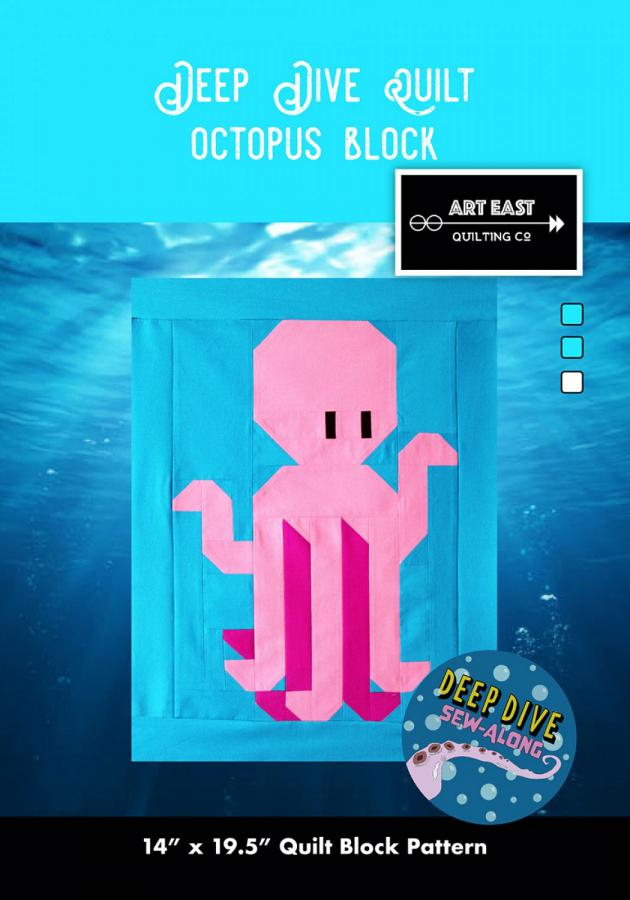 Octopus Block - Deep Dive quilt sewing pattern from Art East Quilting Co.